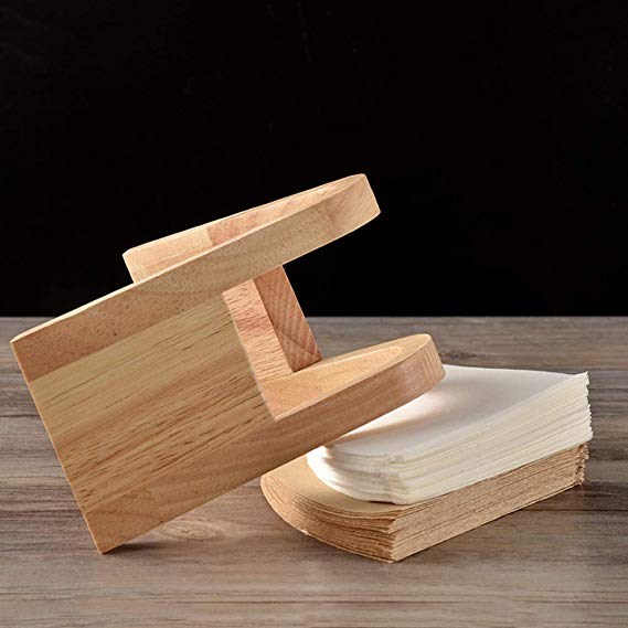 Customized Bamboo Coffee Filter Holder Wooden Dispenser Coffee Filter Stand 3