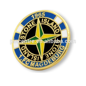 custom enamel stone island lapel pin badge - buy stone island