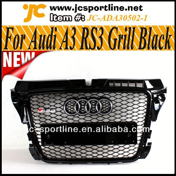 noir brillant de voiture calandre v ritable sportback rs3 grille avant pour audi a3 s3 8p 08 12. Black Bedroom Furniture Sets. Home Design Ideas