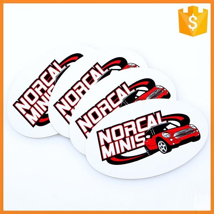 High Quality Custom Oval Pvc Bumper Sticker Printing For Car - Custom oval car bumper magnets