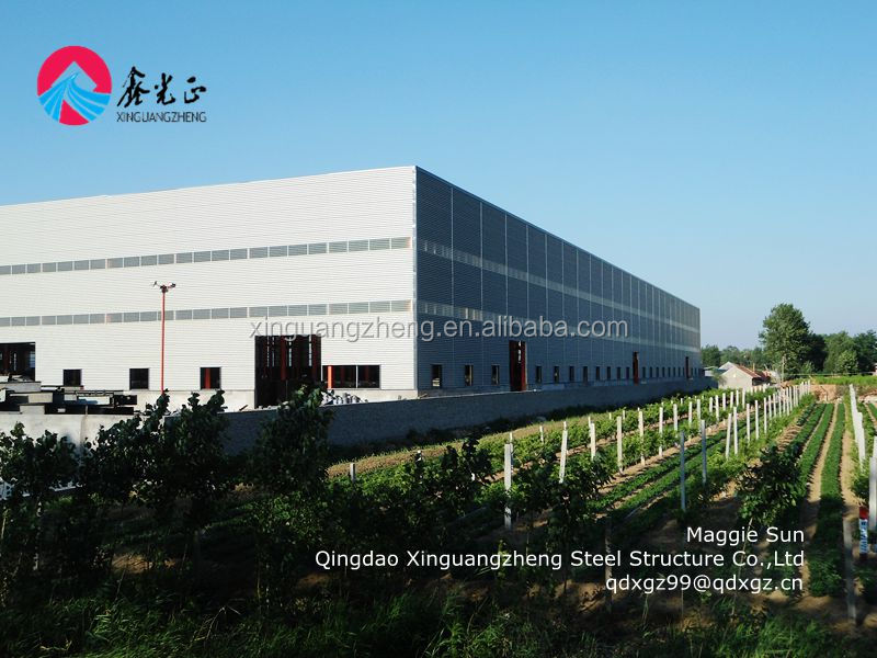 Portable pre-made steel frame warehouse structural steel frame construction
