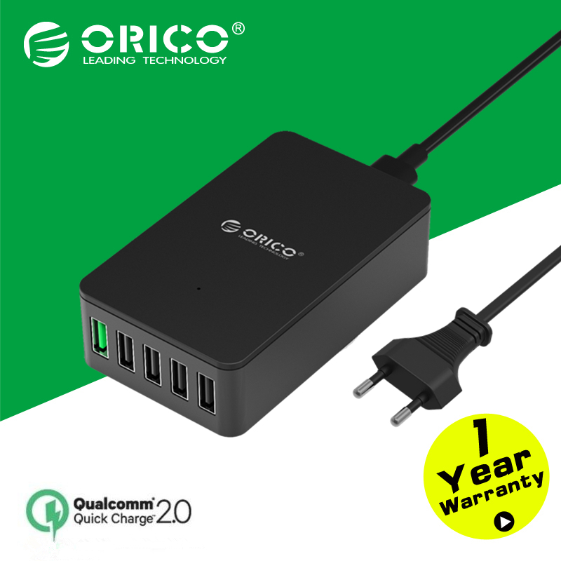 ORICO UC5P-GY 5 Port Micro USB charger 40W Smart Supercharger for Iphone/Ipad/Samsung-Gray