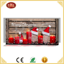 top quality led candle frameless canvas painting