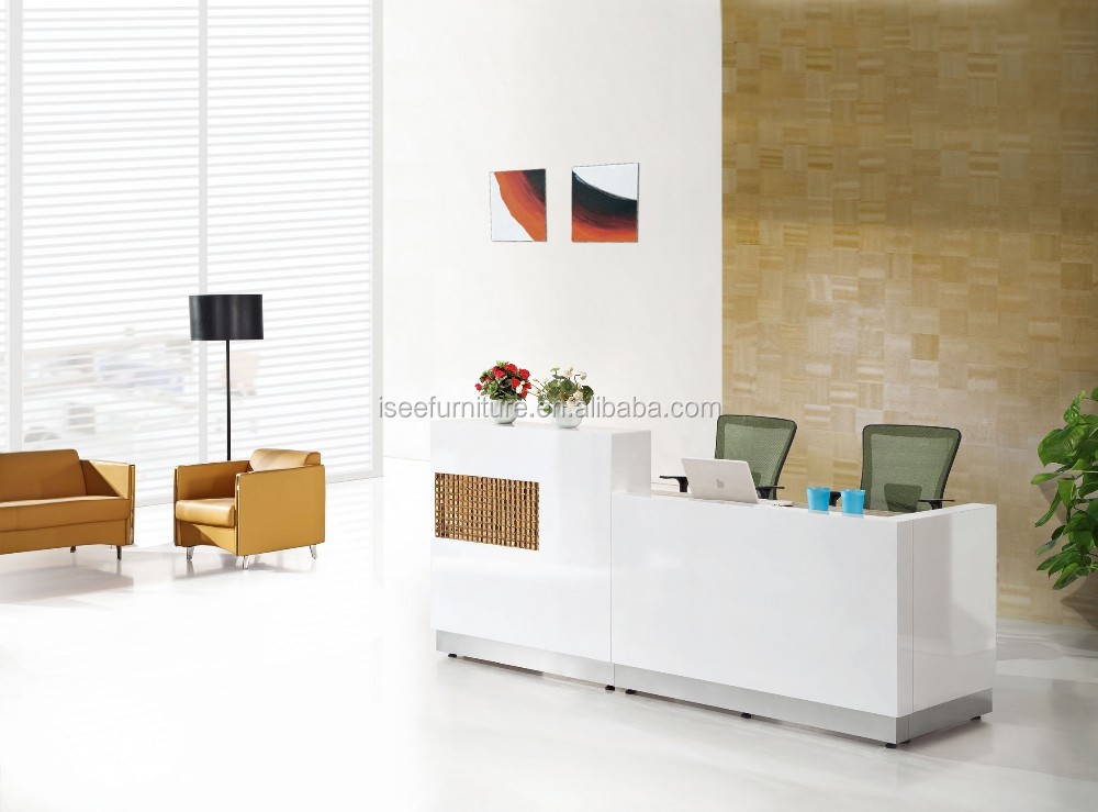 Modern Office Reception Desk Design Curved Office Counter Table