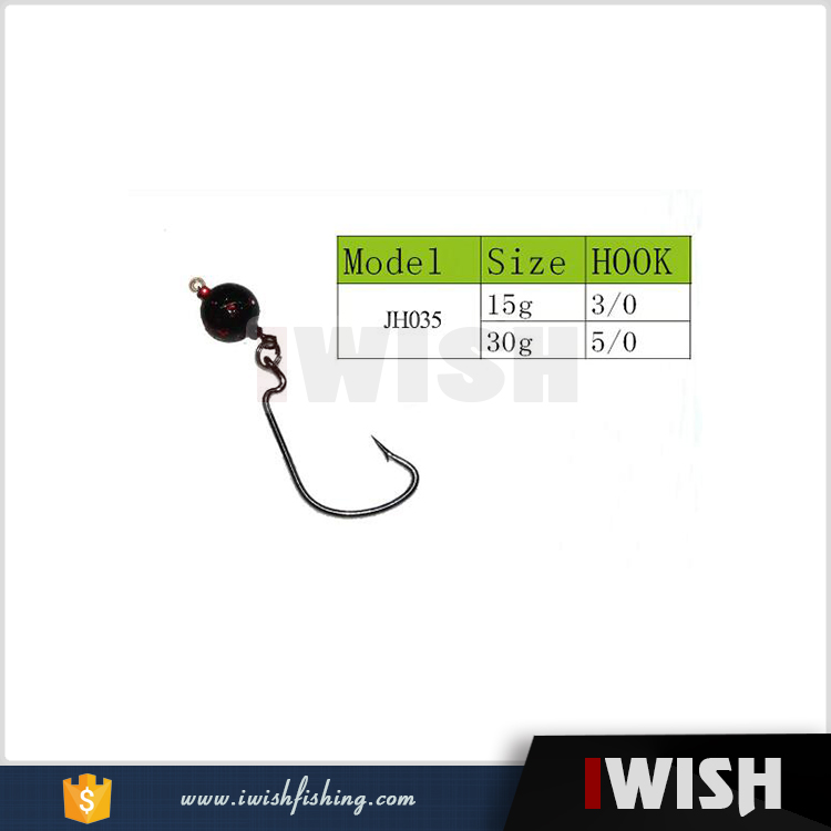 Fishing Games Round Worm Hook Jigheads For Bass