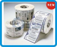 manufacture self-adhesive barcode label roll for the supermarket