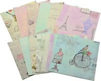 High quality wholesale custom printed patterned paper 6x6 inch scrapbook paper