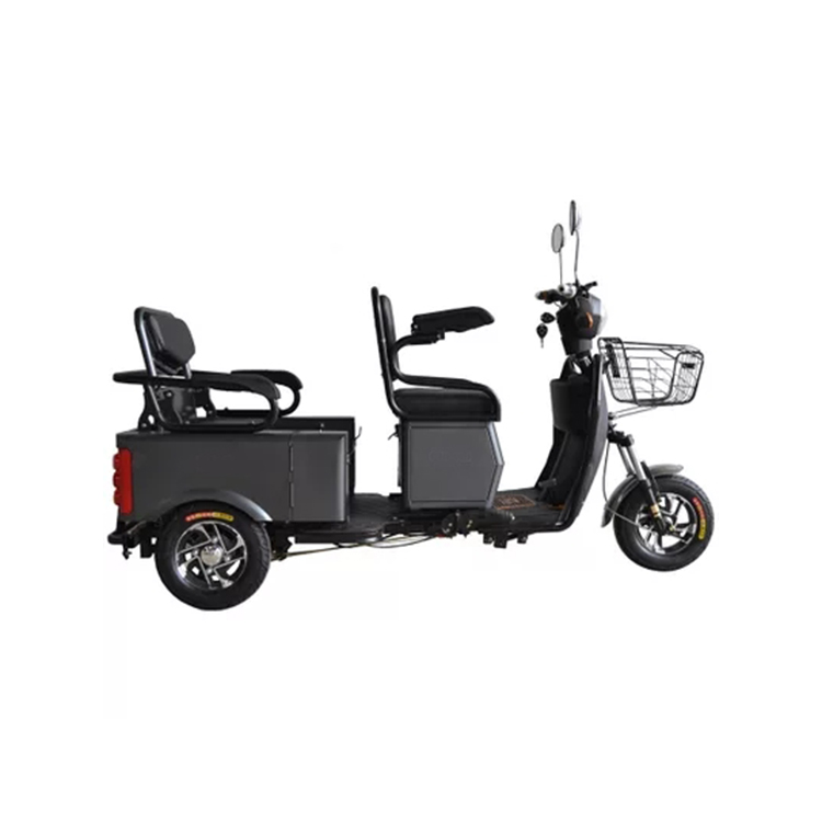 Three wheel battery powered passenger electric tricycle