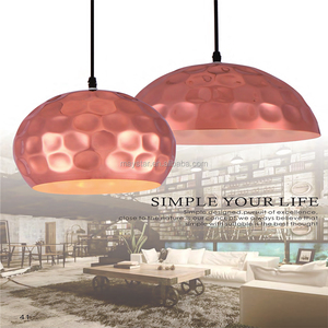 Modern Industrial Cooper Metal Hanging Light Loft Indoor Lighting