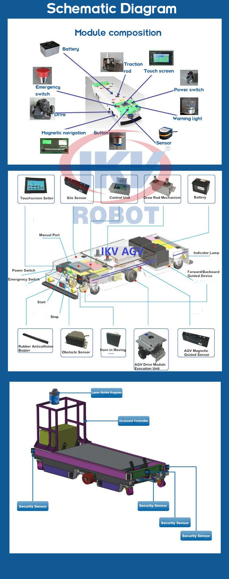 China High Quality Laser Guidance Forklift Agv Factory