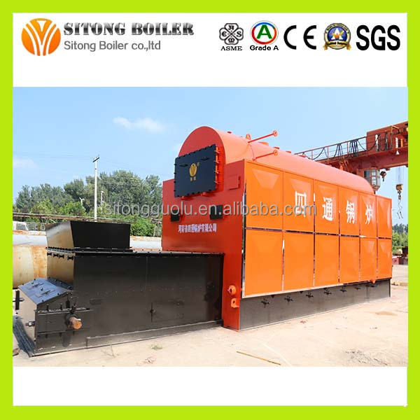 With Carbon Steel Made Heat Exchanger Coal Based Steam Boiler for Fabric Dying Factory
