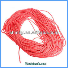 Wholesale Leather Cords 3mm Fluorescent Dark Coral For Fashion Jewelry 100 Metres/ Bundle PULC-F306