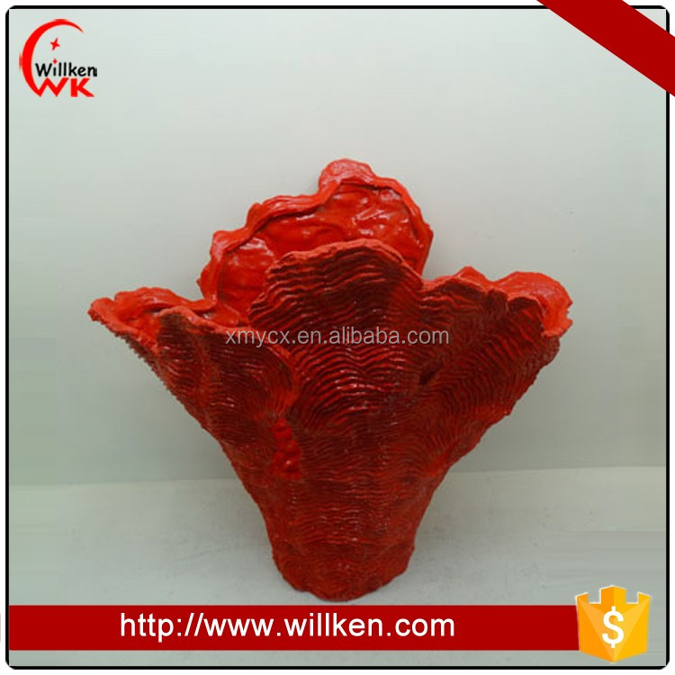 Red resin artificial sea coral decoration