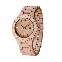 Hot sale factory price high quality BEWELL wooden watch with Japan movement