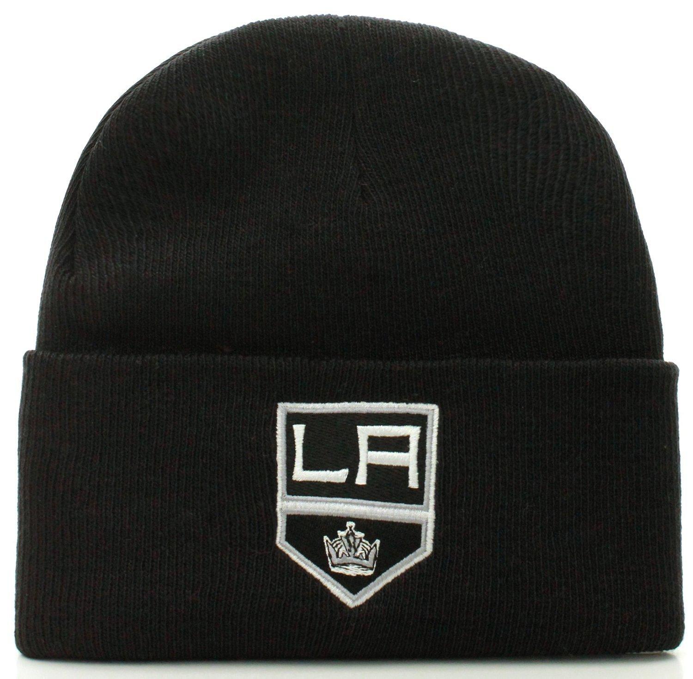Get Quotations · Los Angeles Kings Black Cuff Beanie Hat - NHL Cuffed  Winter Knit Toque Cap fc584a34ba89