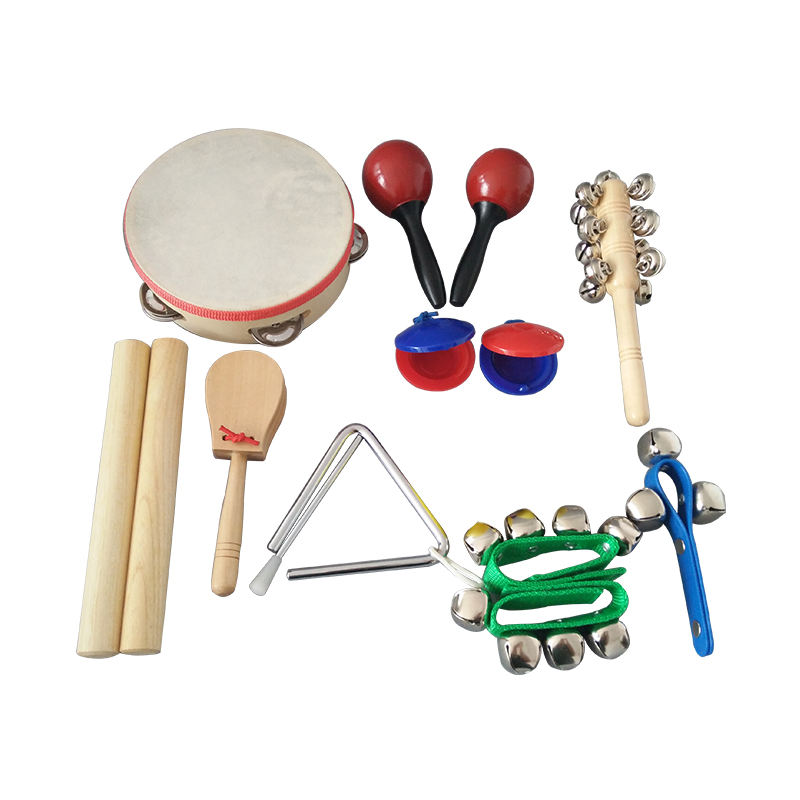 2017 Hot Sale Maracas Tambourine Castanet Music Instrument Toy