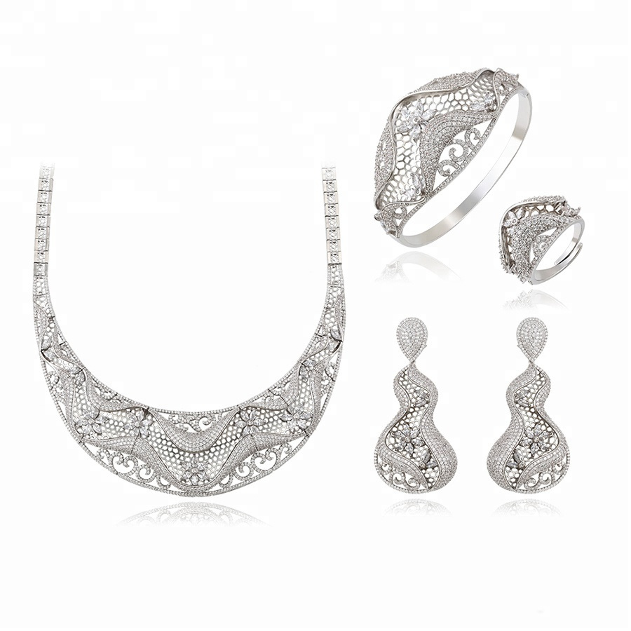 set-163 Xuping Complex design vintage zircon Jewelry Set for bridal