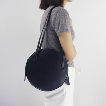 Elegant Lady Bags Genuine Leather Round Women Handbag Fashion Shoulder Bags 370dd29454