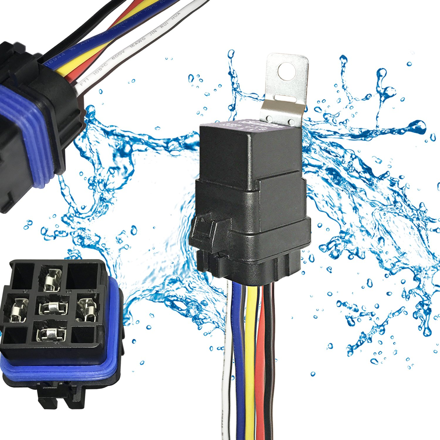 Cheap 12 Pin Wire Harness Find Deals On Line At Wiring Holders Get Quotations 1 Pack 40 30 Amp 12v Dc 5 Automotive Waterproof Relay Switch Set
