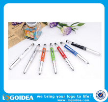 stylus touch screen functional ballpen with LED light