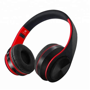 OEM HD Stereo ANC Audio Foldable 3.5mm Wired Wireless Over Ear Sport Headset Bluetooth Headphone With Mic Memory TF Card Solt