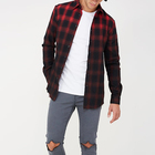 New Arrival Wholesale Checked Faded Shirt For Men