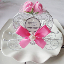 Wedding Candy Favor Box Pink Rose Flowers Pumpkin Metal Carriage Chocolate Box