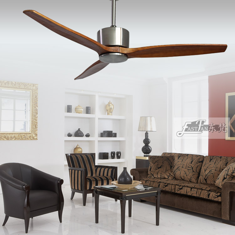 52 inch natural wood ceiling fans / timber blade ceiling fan / solid wood ceiling fan