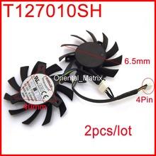 2pcs/Lot EVERFLOW T127010SH 12V 0.35A 65mm 40x40x40mm Graphics Card Cooling Fan