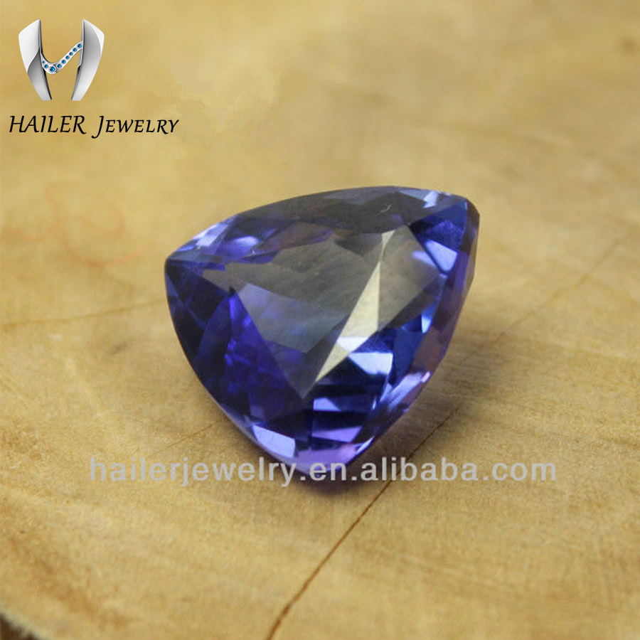 Synthetic Cubic Zirconia Gems Trillion Cut Tanzanite Prices
