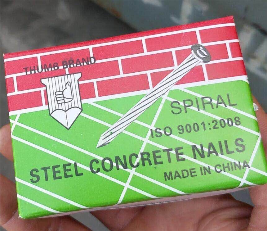 Zinc Plated Tempered Straight Line Grooved Concrete Nails