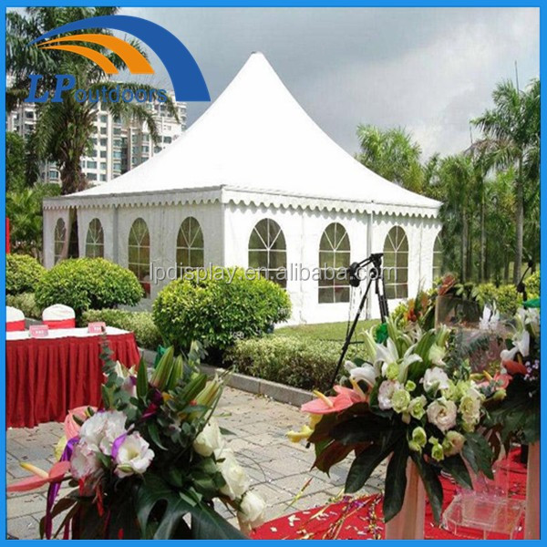 cheap price for 6x6m Outdoor High quality aluminum Pagoda wedding marquee tent
