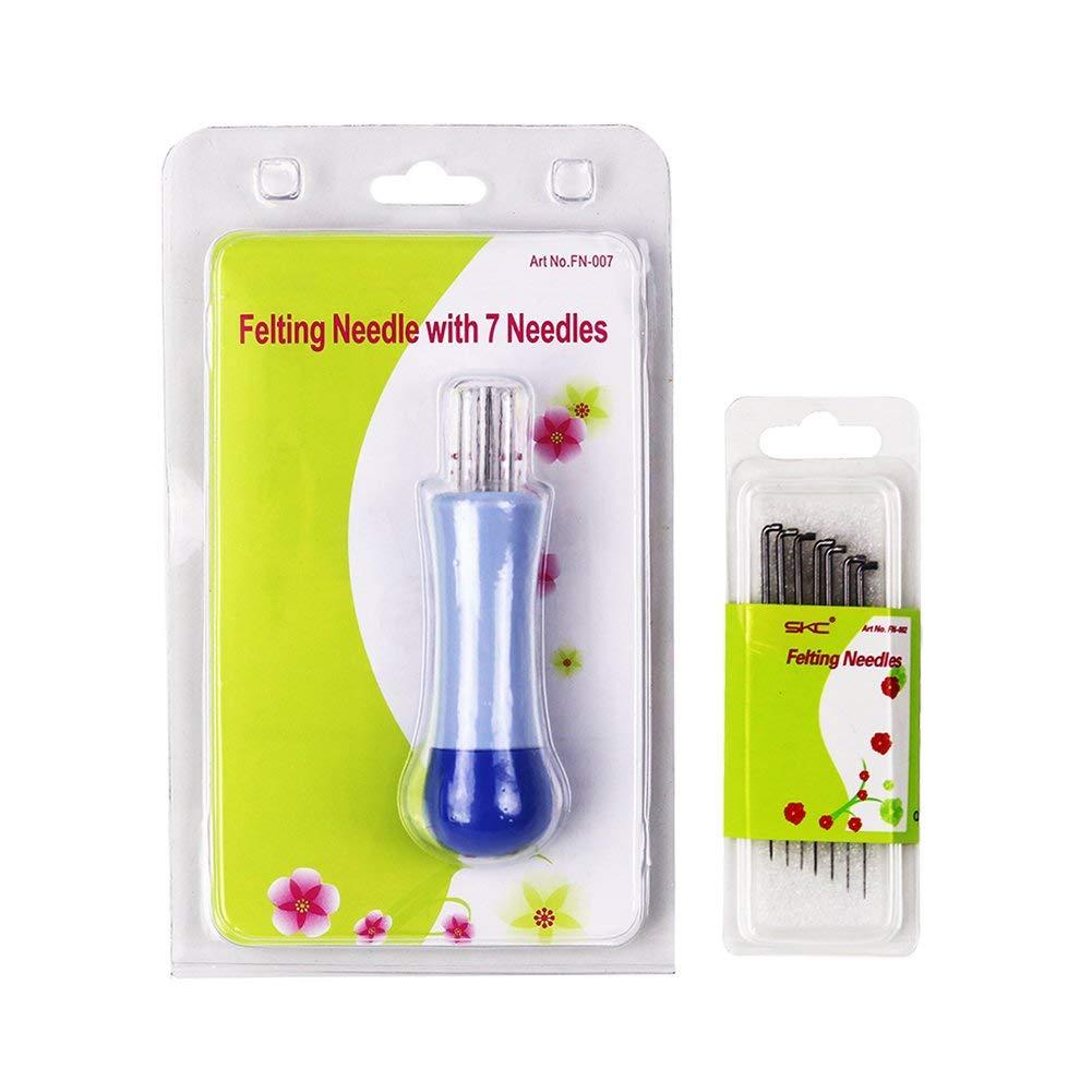 Felting Needle Kit - Felting Needle with 7 Pieces Felting Needles Tool