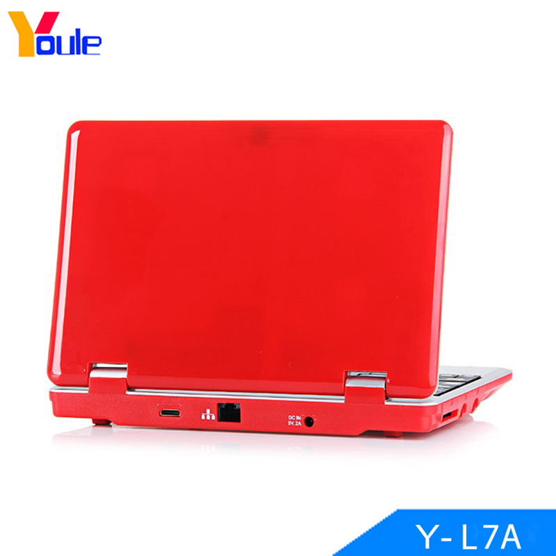 "BRAND NEW 7"" NETBOOK MINI LAPTOP WIFI ANDROID 4GB NOTEBOOK PC UK STOCK RED"