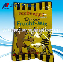 Printed airline food packaging bag for mix fruit