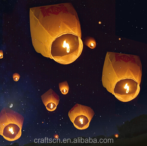White Chinese Sky Lanterns Wishing Lantern