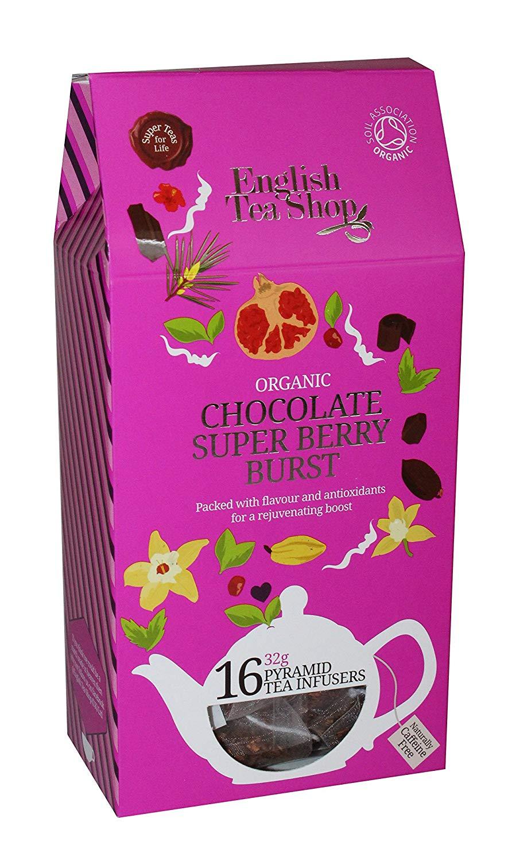 English Tea Shop Chocolate Super Berry Burst Pyramids, 32 Gram (Pack of 6)