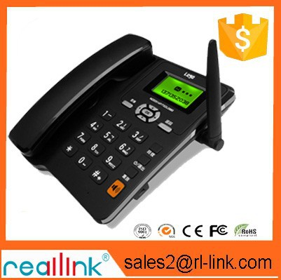 GSM PSTN desktop phone fixed wireless phone with wireless handsets