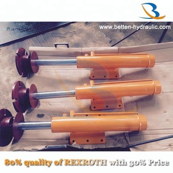Double acting outrigger hydraulic cylinder leg for crane