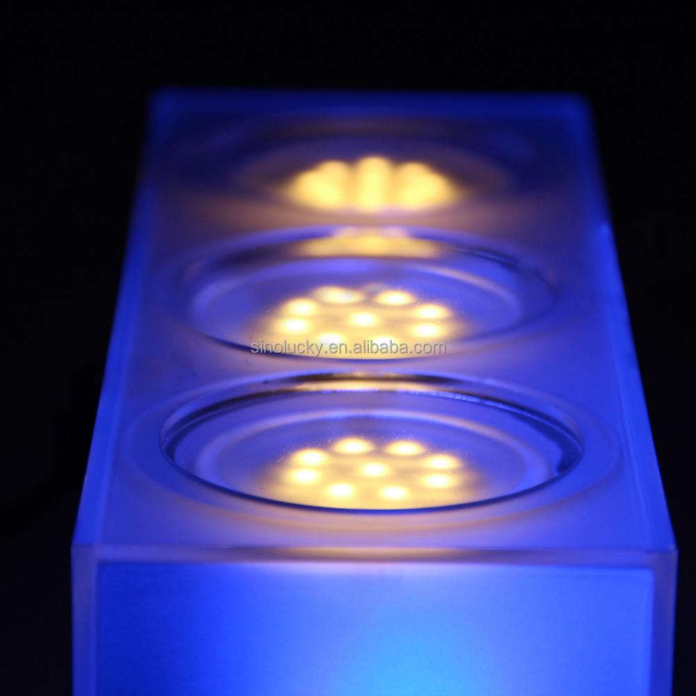 Light Up Bottle Stopper Led Display Wine Glorifier With Glorifiers Base Water