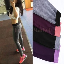 S M New 2015 Spring-Summer Women'S Sports Leggings fitness High Waist Elastic Fashion Fitness Workout Leggings Pants 50