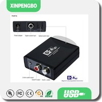 China Wholesale Audio Converter Input Digital Coaxial Fiber Output Audio L/R RCA and 3.5mm