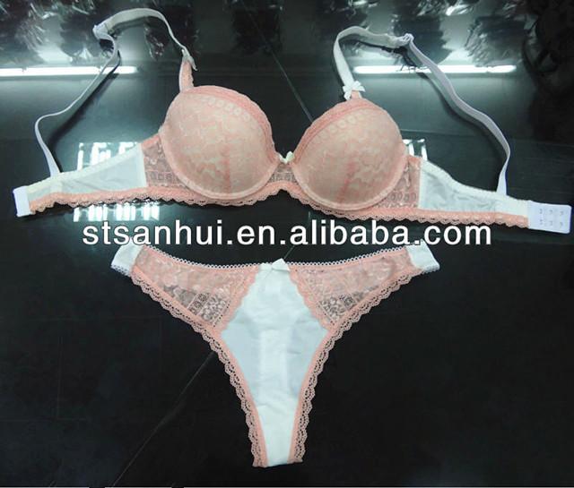 94692fd69 Senhoras sexy calcinha e sutiã meninas lingerie de renda preta conjunto de  sutiã por atacado preço