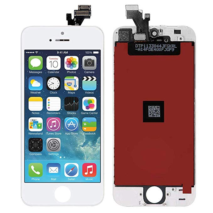 Screen Replacement for iPhone 5 White Touch Screen Digitizer LCD Display Replacement Full Assembly with Repair Tool Kit
