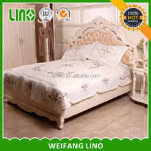 new product embroidery duvet polyester microfiber filling full size comforter
