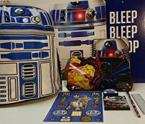 R2D2 Backpack with School Supplies and Star Wars Activity Set