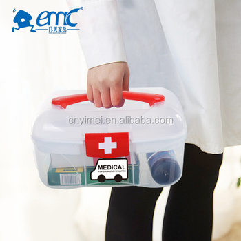 Custom First Aid Kit Family Medicine Newest Design Factory Made Plastic  Home Storage Box /container With Handle - Buy Plastic Storage Box With
