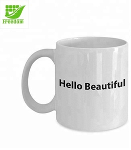 High Quality Promotional Plain White Ceramic Cup