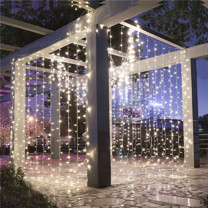 10m 100LEDS Curtain String Lights 220V Christmas Garden Lamps LED Icicle Ice Bar Lamp LED fairy light