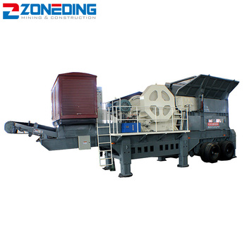 Top quality sand portable stone crushing plant stone mobile production line